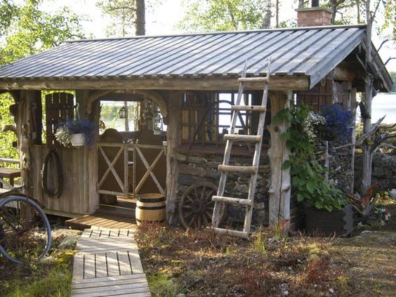 Pinterest the world s catalog of ideas for Outdoor kitchen shed
