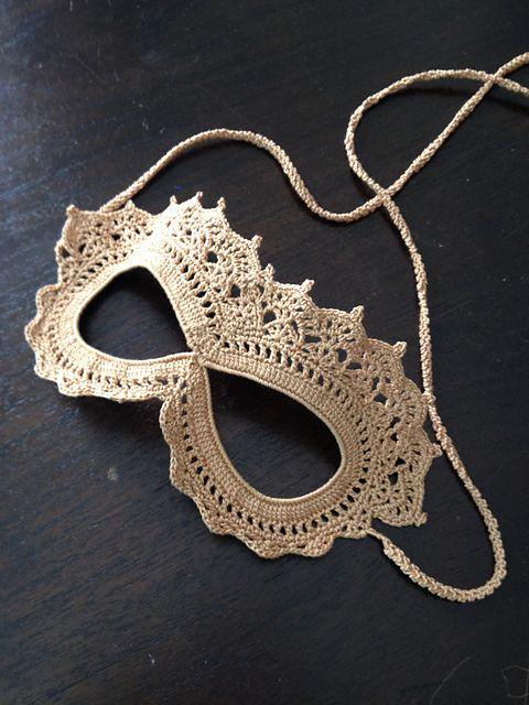 Free Crochet Halloween Mask Patterns : Ravelry: frankiedavis Crochet Lace Masquerade Mask ...