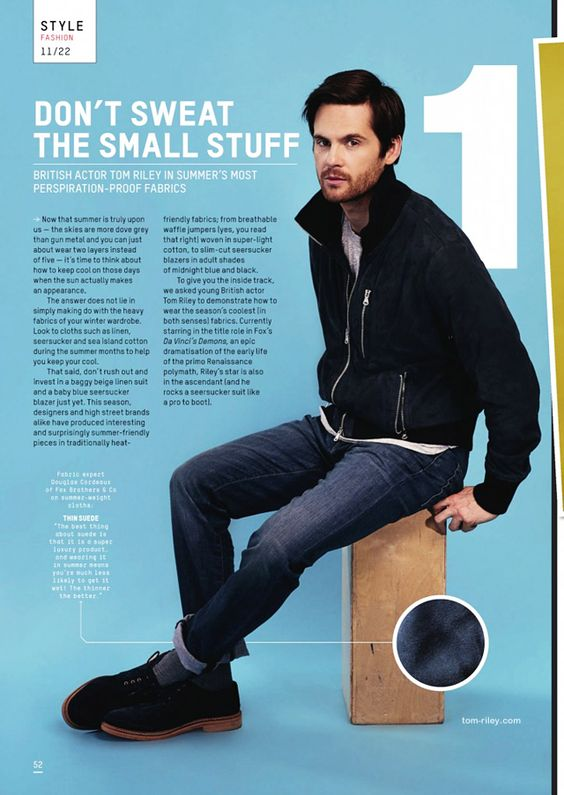 Esquire Magazine July 2013 photoshoot | Tom Riley