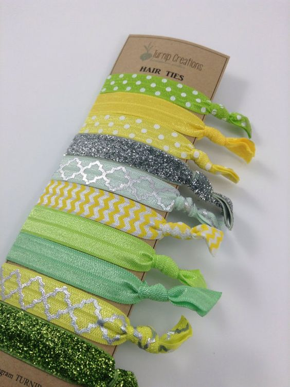 These fabulous hair ties are great to keep up with your Fun Style!    These FOE Hair Ties are perfect hair accessories for pulling back your hair and