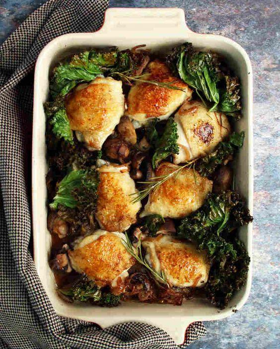 Keto Chicken Mushroom Casserole Recipe