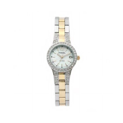 Amazon.com: Fossil Ladies two-tone with white MOP dial: Watches