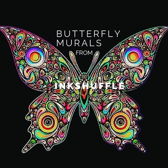 Re-invent your space with this psychedelic #butterfly wall art from InkShuffle. See the design at our homepage (link in BIO ⬆️) #wallpaper #InkShuffleMural #interiordesign #walldecor #wall #homedecor #Toronto #Canada #interiorstyling #USA #art #artist #interiors #modern #decorating #design #decor #photooftheday #inkshuffle #mural #roomdesign #graphicdesign #instagood #instahome #instapic #butterflydecor #psychedelic #animal