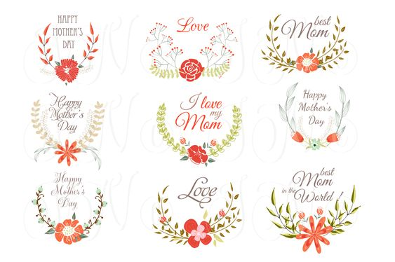 Hand Drawn Floral wreath for Mather' by Ivan Negin on Creative Market