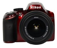 Nikon  D3200 24.2 Megapixel DSLR Camera - Red $599.99