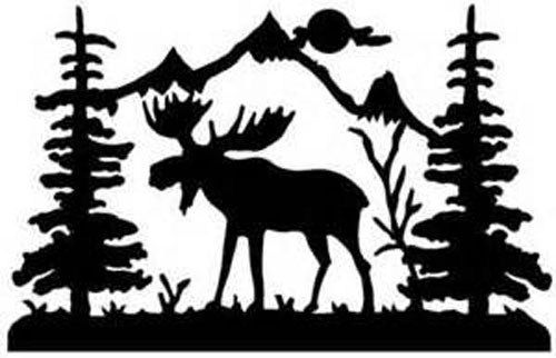 36 Szarvas Sablon Es Transzfer Minta Pagi Decoplage Moose Silhouette Moose Wall Art Moose Clipart
