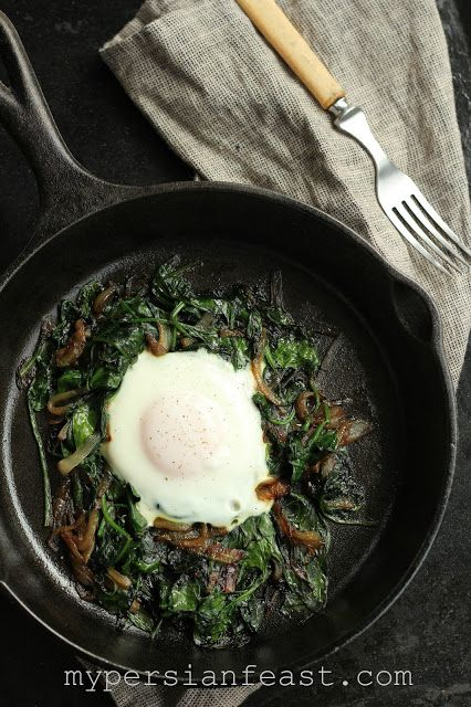 My Persian Feast: Nargessi - Spinach and Eggs