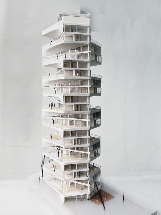 archimodels:  © LYCS architecture - writhing tower - lima, peru - 2012