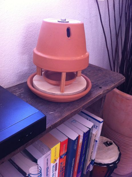 Tea Light Candle + Clay Flower Pot,  Radiant Space Heater.