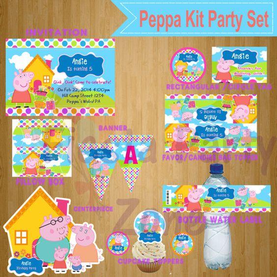 Oink oink https://www.etsy.com/es/listing/177338167/peppa-pig-peppa-pig-party-set-peppa-pig