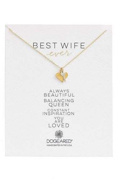 Dogeared+'Family+-+Best+Wife+Ever'+Cluster+Pendant+Necklace+available+at+#Nordstrom