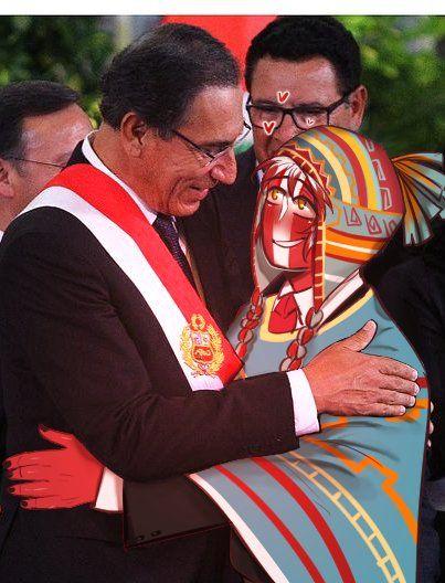 Presidente Martín Vizcarra & Perú / Peru    CountryHumans    By Rocoto_roco (Twitter)
