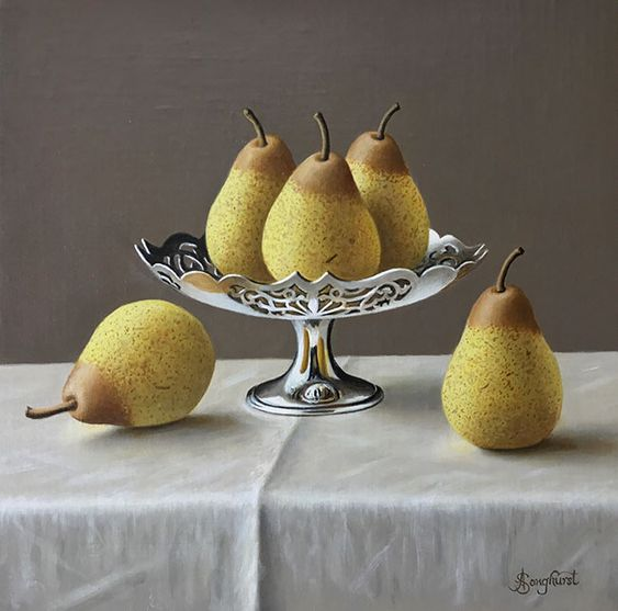 Anne Songhurst. Silver Tazza with Pears