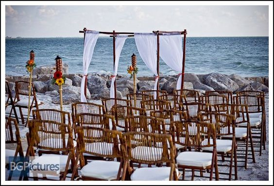 This is one of the beautiful setups done for a beach wedding by Special Moments.  LovingUnity.com