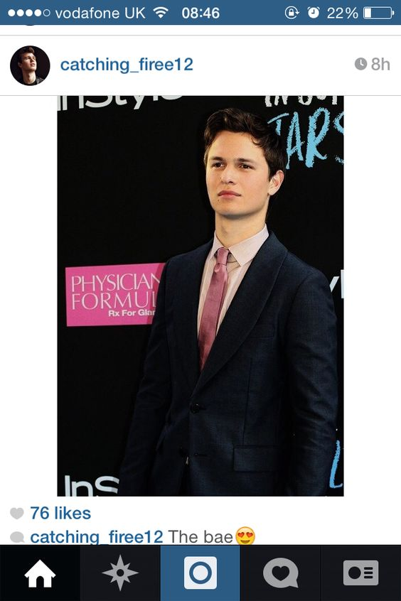 Ansel Elgort at The Fault In Our Stars premiere a while back