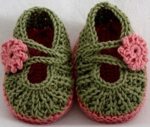 Free Crochet Patterns For Girl Booties : free pattern crochet baby girl shoes baby shower qifts ...