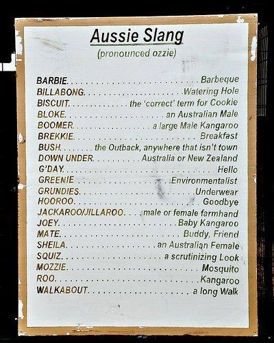 Aussie Slang. Click on the pin to view Aussie Slang dictionary.