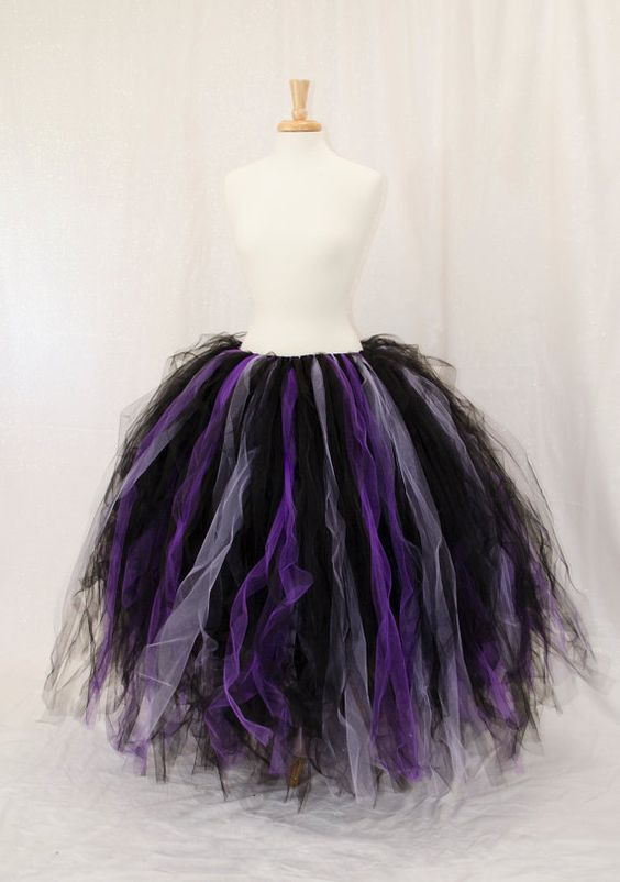 Custom Color Long Tutu skirt - Fairy costume accessory Made to order, so could be done in rainbow & white.