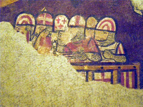 Desembarco aragones a Mallorca. Pinturas goticas del MNAC procedesntes del Palau Caldes 1280