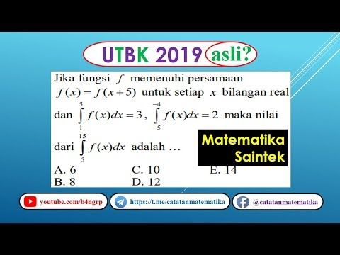 Soal Asli Utbk 2019 Matematika Saintek Integral Tentu Youtube Knowledge Education Make It Yourself