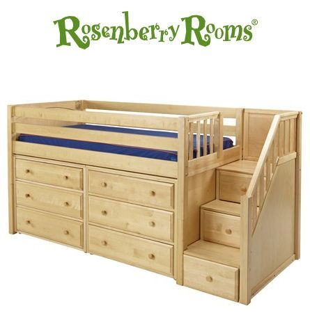 The Great Low Loft Bed With Dressers And Staircase Is A