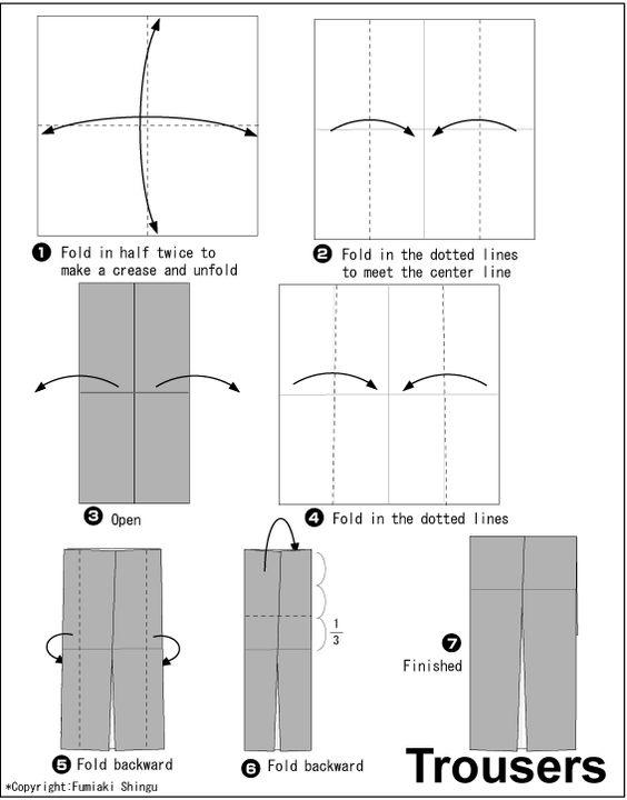 origami tuxedo origami pinterest wedding trousers
