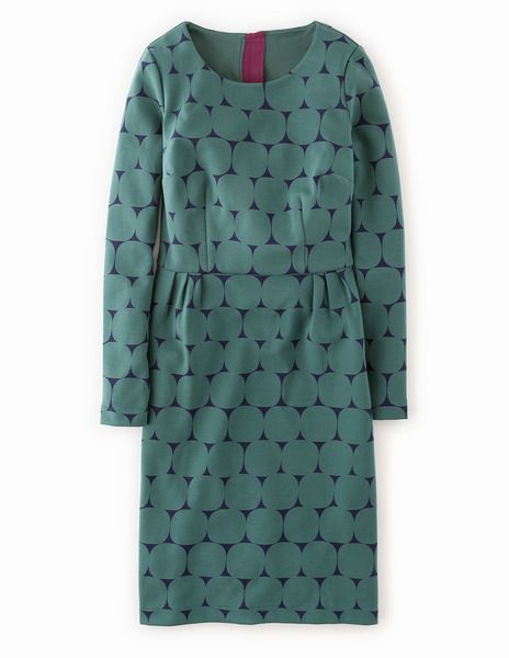 Printed Ponte Dress WH730 Dresses at Boden
