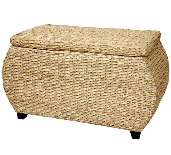 V-Woven Rush Grass Storage Box