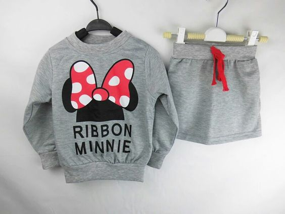 Minnie Ribbon Winter Girl Set
