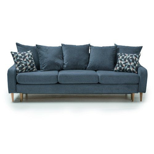 Benito 3 Seater Sofa Bed Optisofa Upholstery Blue With Images 3 Seater Sofa Bed Sofa Bed