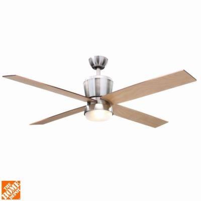 Hampton Bay Trusseau 52 in. Brushed Nickel Ceiling Fan-AL775-BN - The Home Depot