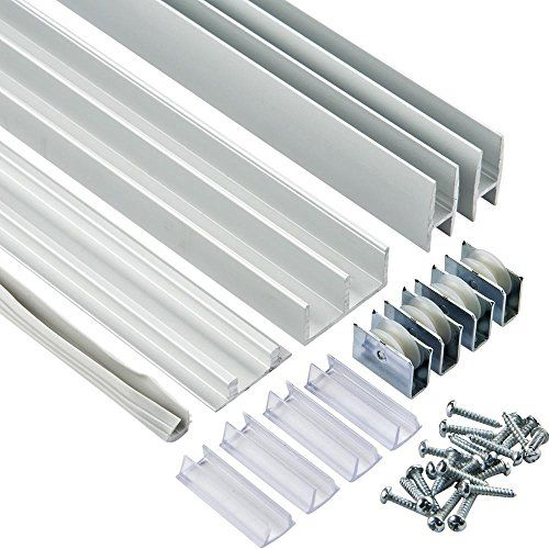 3 Ft Aluminum E Z Glide Tracks Price Per Set Glass Door Sliding Tracks Sliding Glass Door