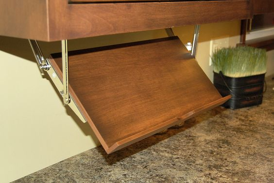 pull down from under cabinets for your cookbooks | For our Kitchen ...