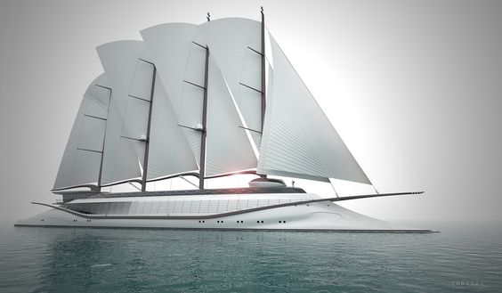 New 133m mega yacht PHOENICIA II concept by Igor Lobano