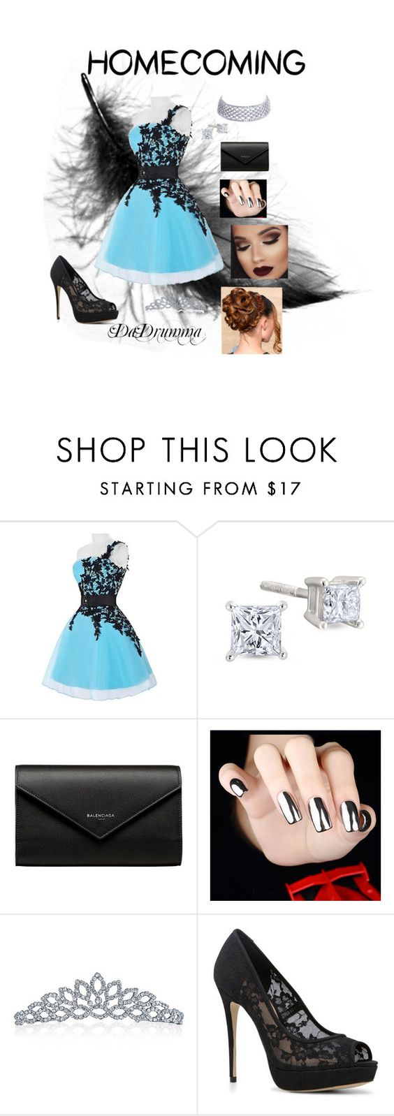 """Homecoming Queen"" by dadrumma on Polyvore featuring Balenciaga, Bling Jewelry, ALDO and Homecoming"
