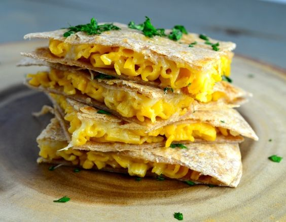 Mac & Cheese Quesadillas