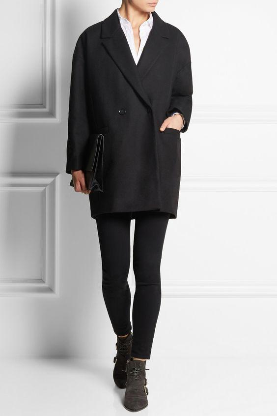 american vintage manteau en laine mlange oversize grayson net a porter