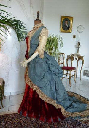 Bustle Ball Gown, England, ca. 1876