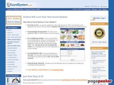 Ecard System is providing real value to webmasters.