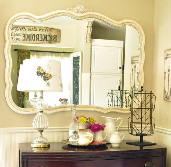 Large mirror over vintage dresser. Large mirror over vintage dresser    quot DIY Home Decor Ideas