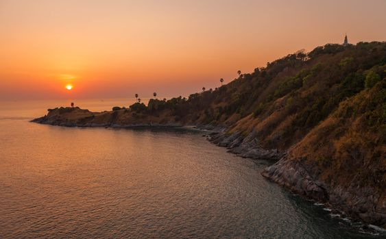 Sunset over Promthep Cape in Phuket, Thailand. #phuket