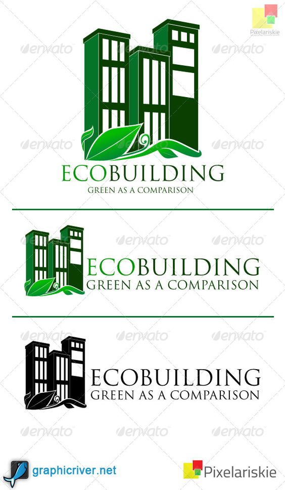 Eco Building logo  #GraphicRiver         This file contains 6 Ai Files and 6 EPS files . Plus 1 read me file in the .zip file. This logo made by 2 version, landscape and potrait mode with RGB & CMYK. You can use this logo to all condition because background of this logo can be change like you want. You can custom this logo easily and you can edit easily with minimum Adobe Illustrator CS 3. This file using standard font in your operating system.     Created: 2March13 GraphicsFilesIncluded…