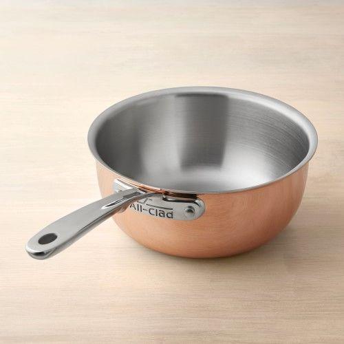 All Clad C4 Copper Saucier In 2021 Copper Cookware Cookware Sets Cookware All clad saucier 2 qt