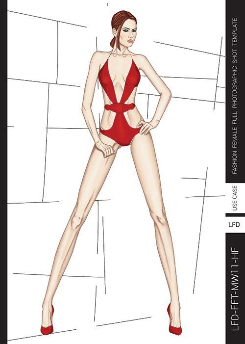 Templates For Fashion Design Pdf Book Lady Fashion Design In 2020 Fashion Illustration Fashion Figures Fashion Design