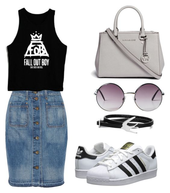 """""""Untitled #885"""" by giselaturca on Polyvore featuring rag & bone, adidas Originals, Michael Kors, Monki and McQ by Alexander McQueen"""