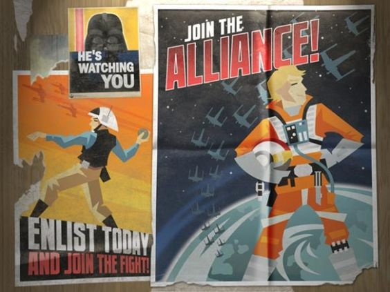 Propaganda Posters Star Wars Style - Digital Bus Stop