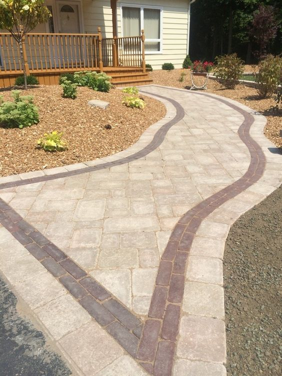 Brussels Block Pavers With Red Copthorne Accent Create A