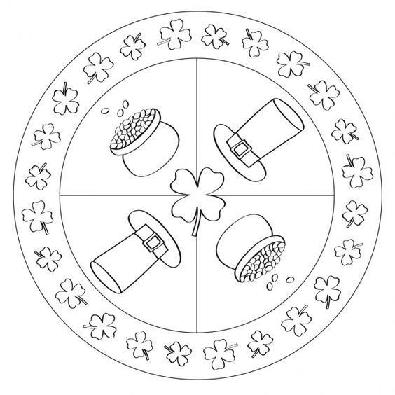 St Patrick 39 s Day Mandala for preschool