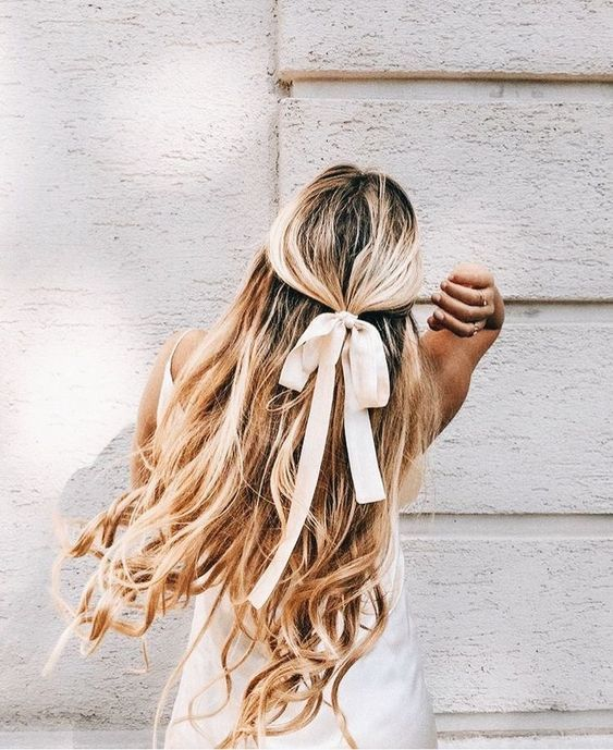 Hair Ribbons Pretty Up Your Look In 10 Seconds Flat Girlfriend Is Better In 2020 Hair Styles Long Hair Styles Hair Ribbons