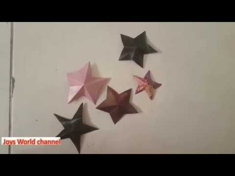 Easy Wall Hanging How To Make Easy Paper Star Diy Paper Craft Tutorial Paperwallhanging Paperflower Walldecor Star Diy Paper Stars 3d Paper Star
